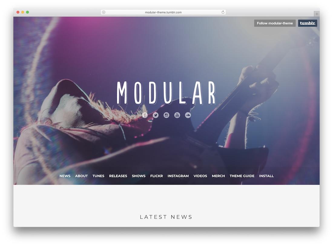 modular tumblr theme