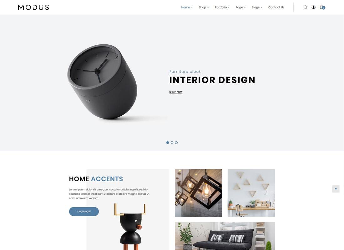 Modus | Modern Furniture WooCommerce Theme