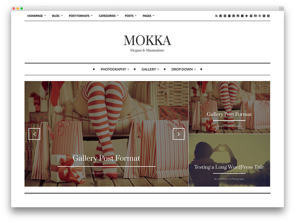 mokka three column theme