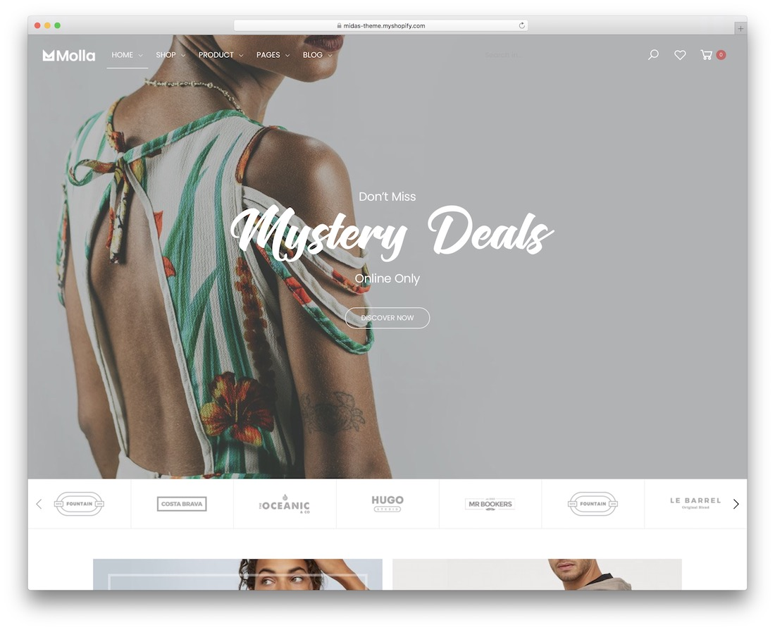 molla boutique shopify theme