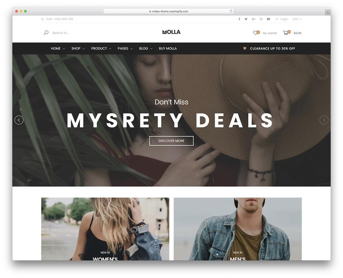 molla responsive shopify theme