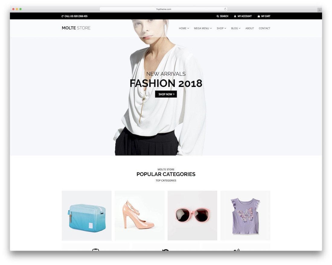 molte woocommerce wordpress theme