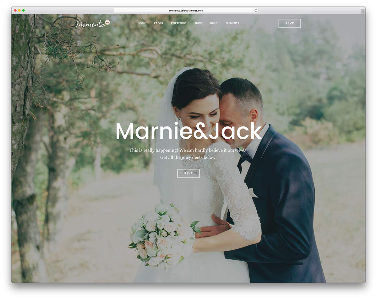 modern wedding wordpress theme