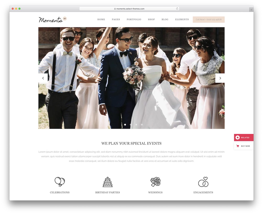 moments event planner wordpress theme