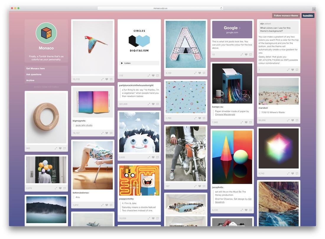 monaco tumblr theme