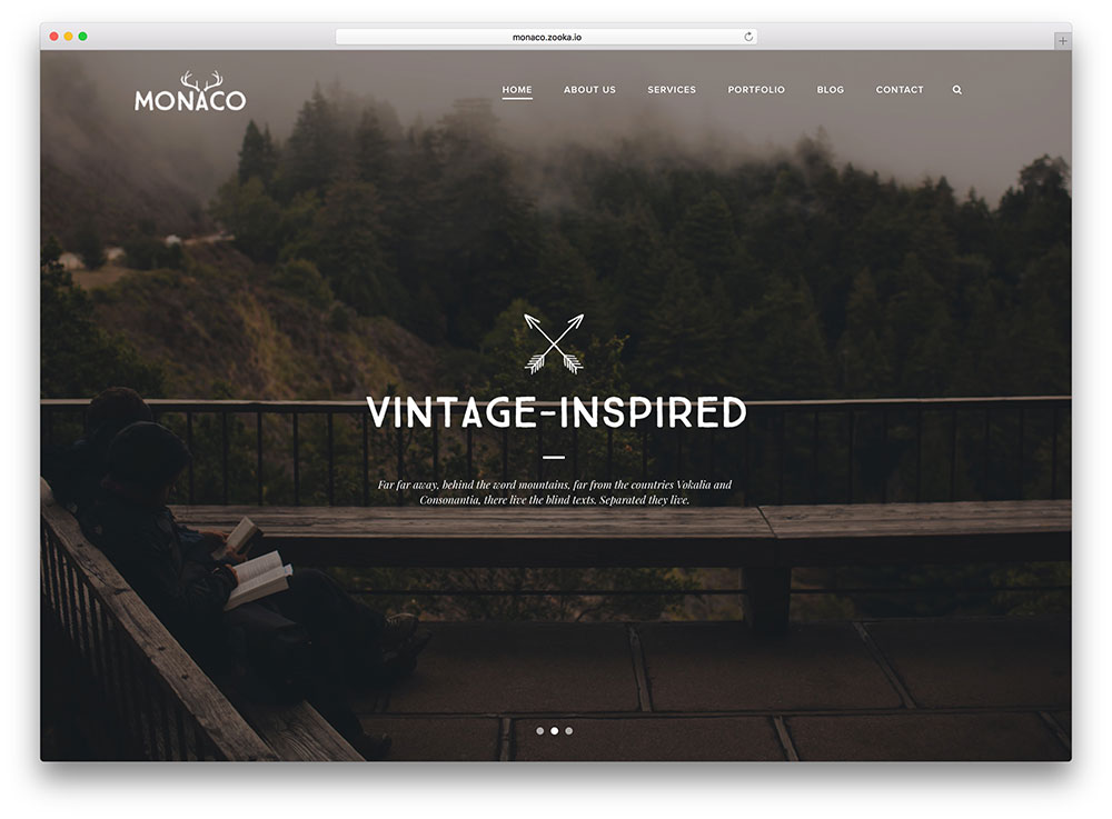monaco-vintage-fullscreen-wordpress-theme