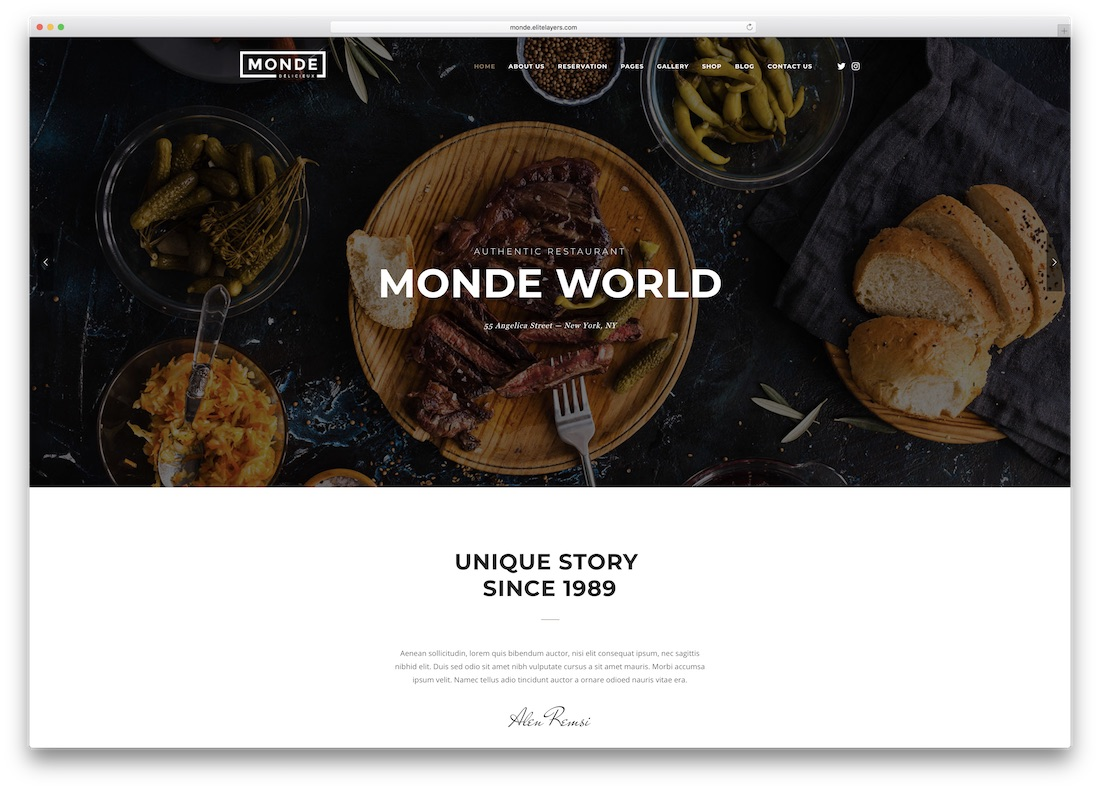 monde html5 website template