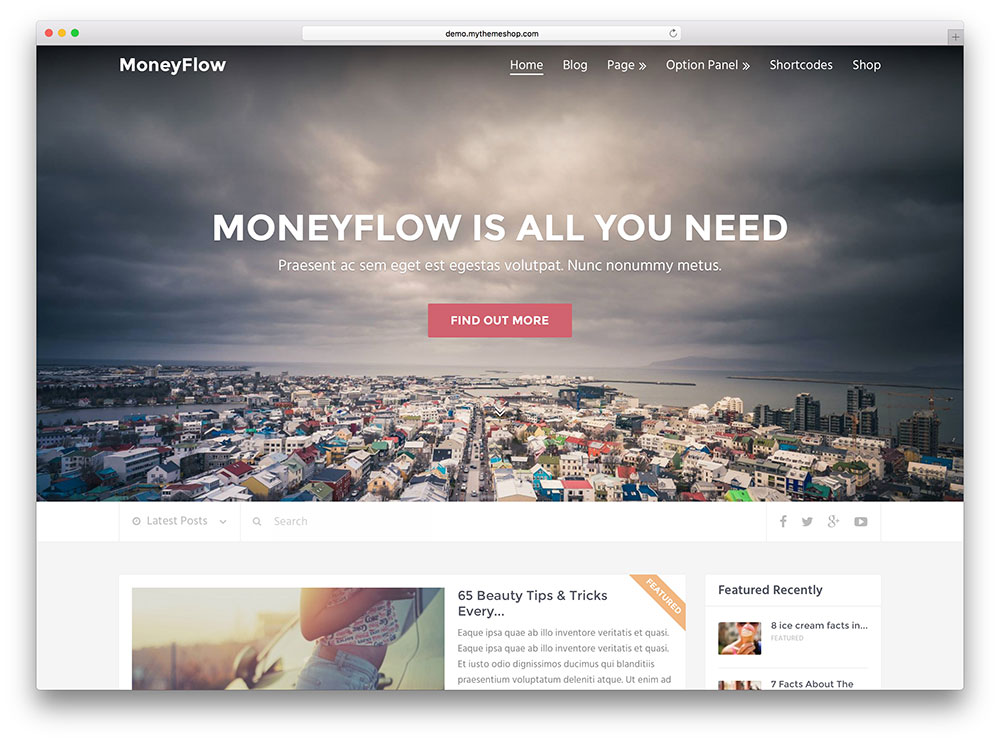 moneyflow - creative magazine theme