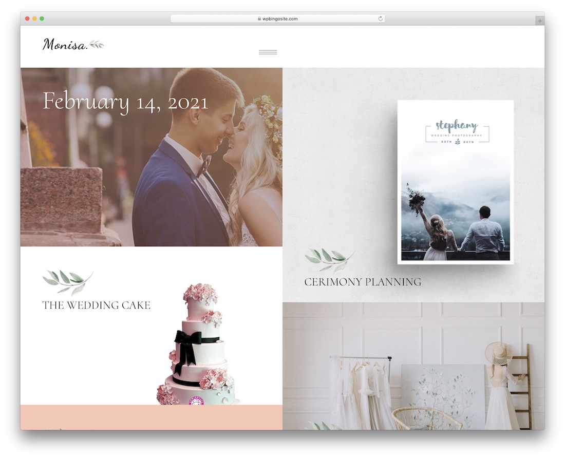 monisa feminine wordpress theme