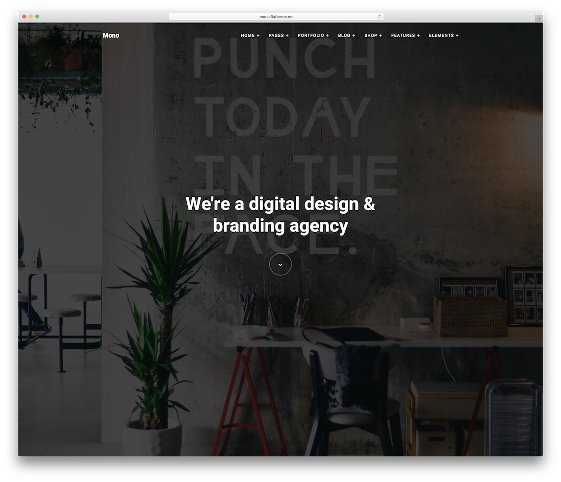 mono business website template