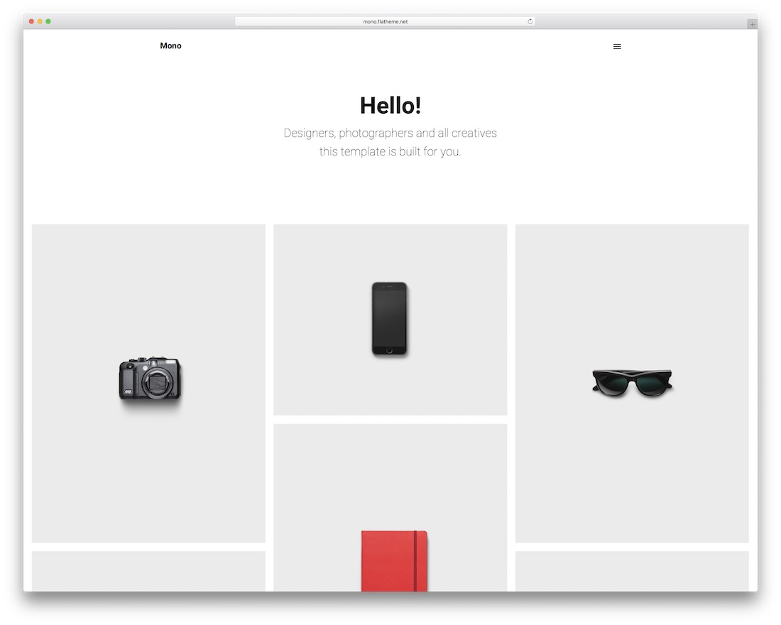 mono grid website template