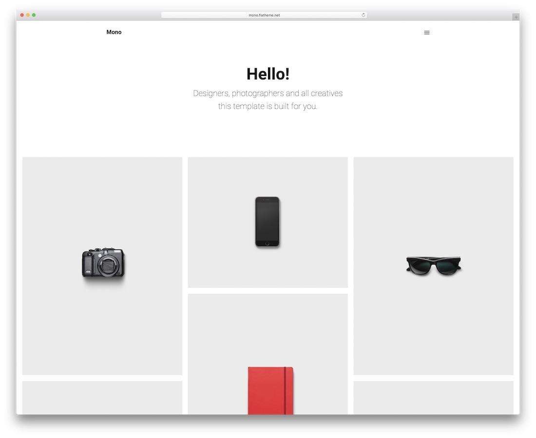 mono minimal website template