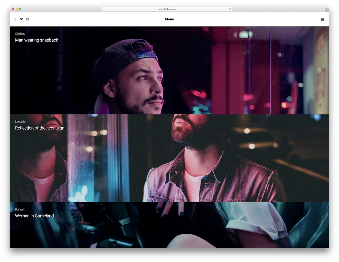 mono multipurpose website template