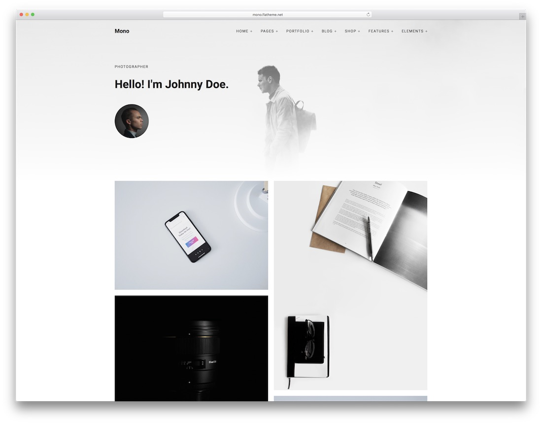 mono professional website template