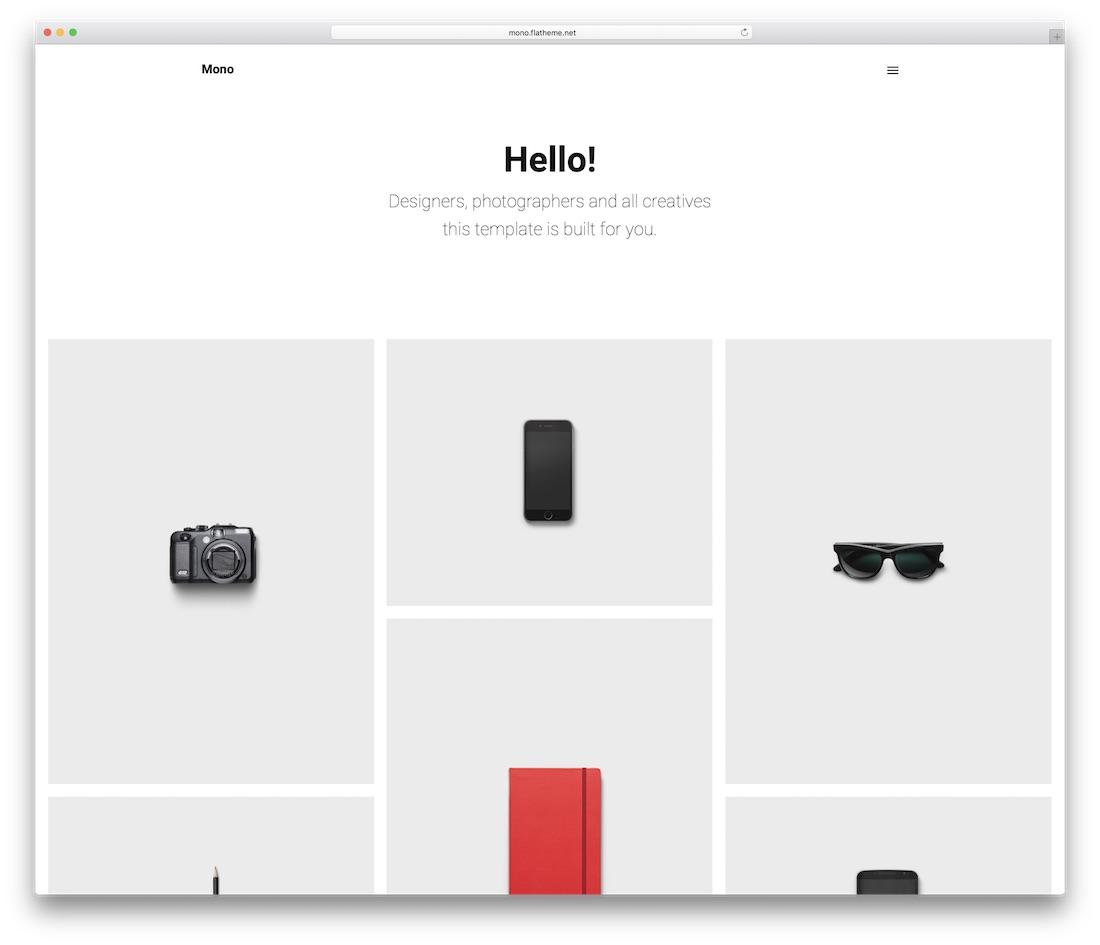 mono website template