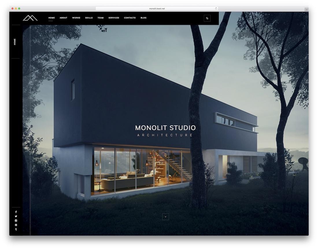 monolit interior design website template