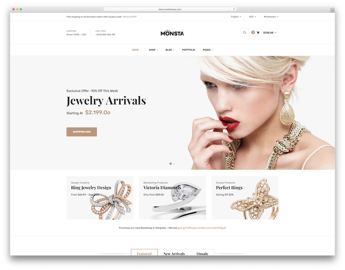 monsta fashion website template