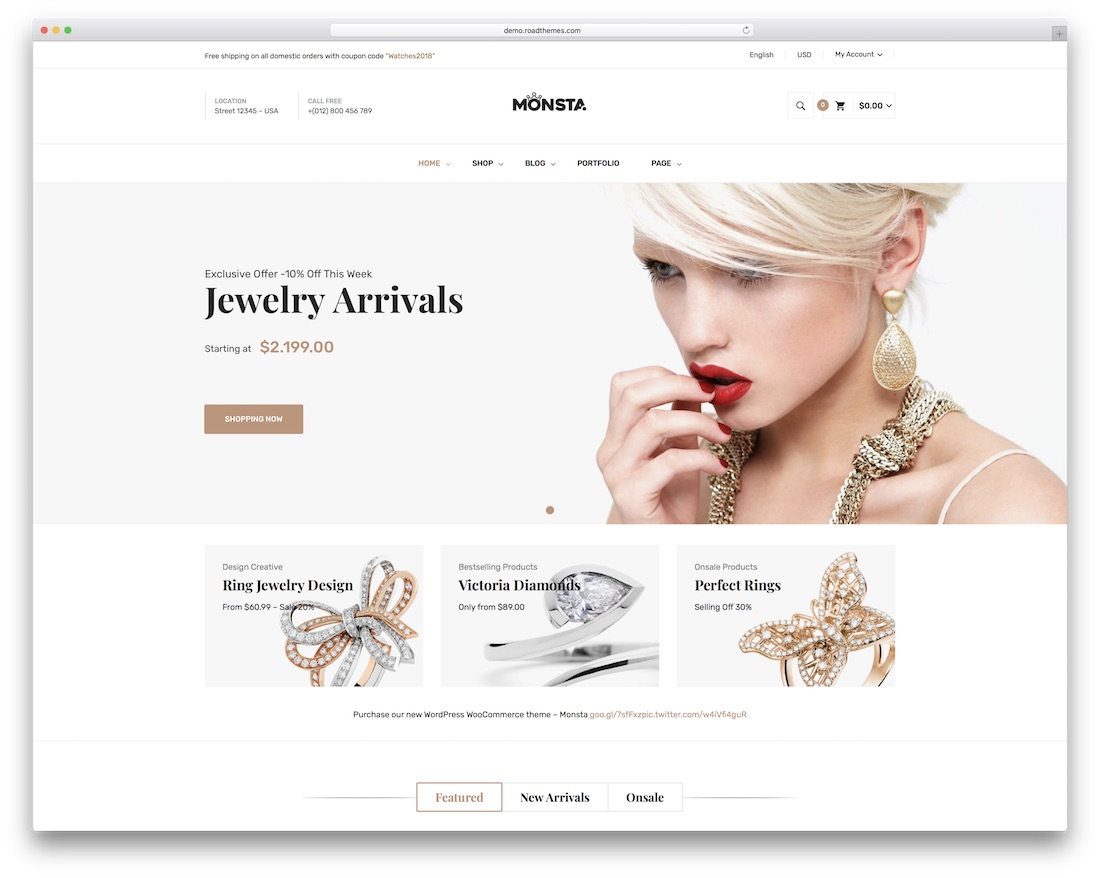 monsta jewelry wordpress theme