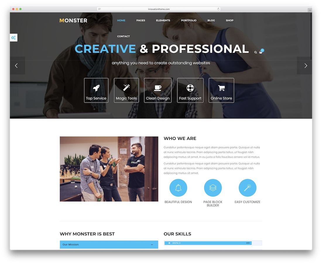 monster drupal business template