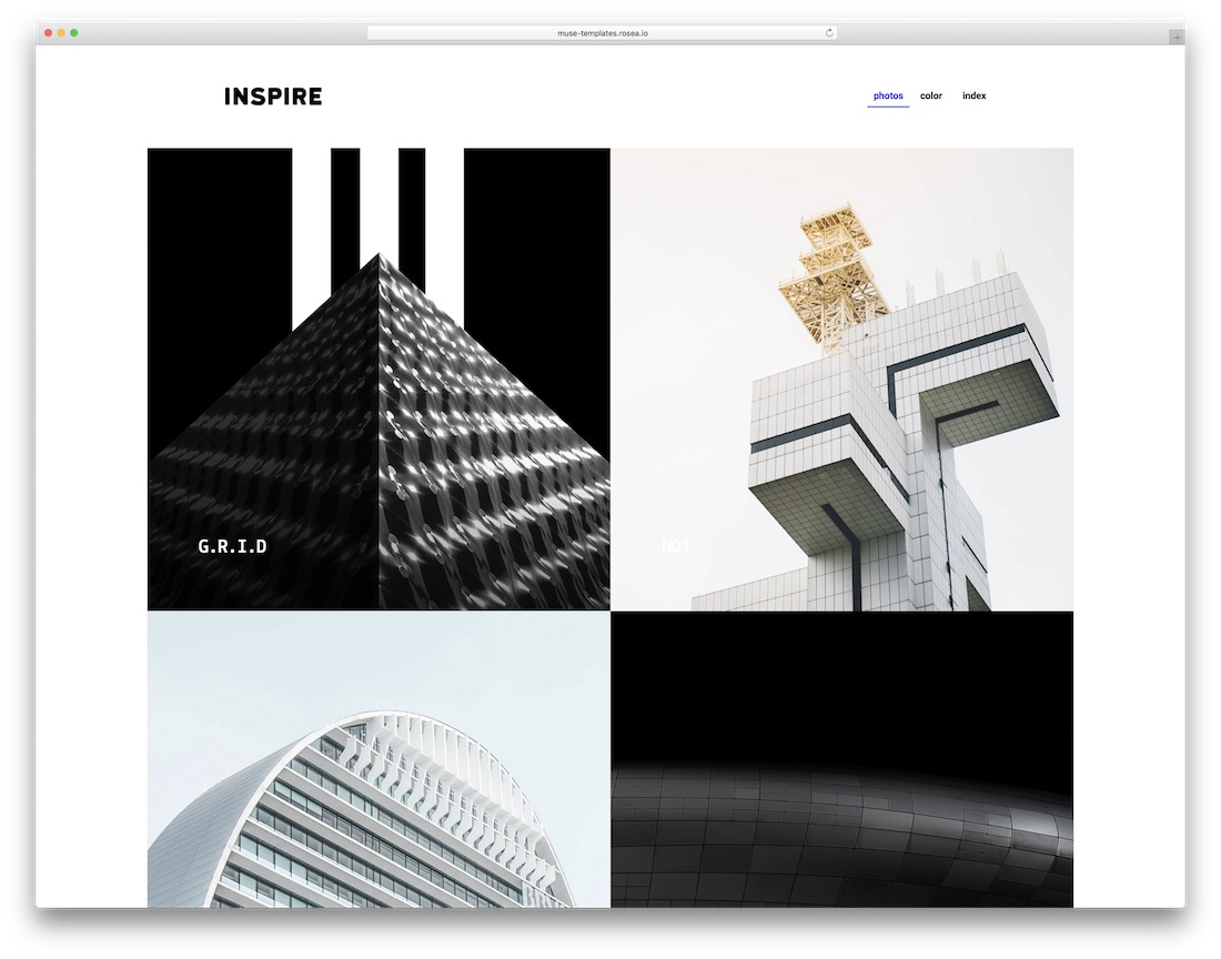 moon clean adobe muse template