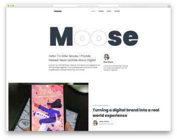 Moose Colorlib Template