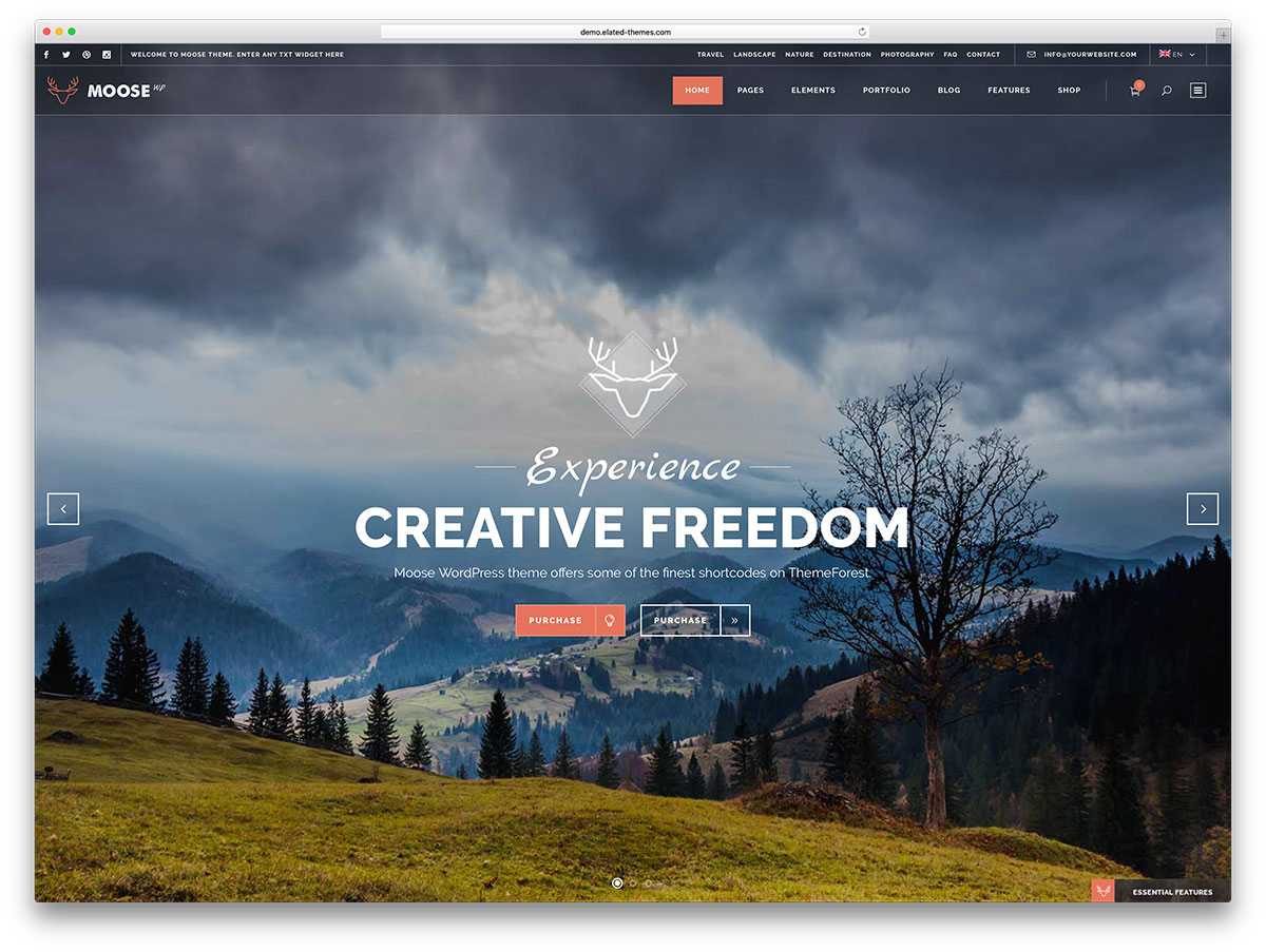 Moose - fullscreen retro WordPress theme