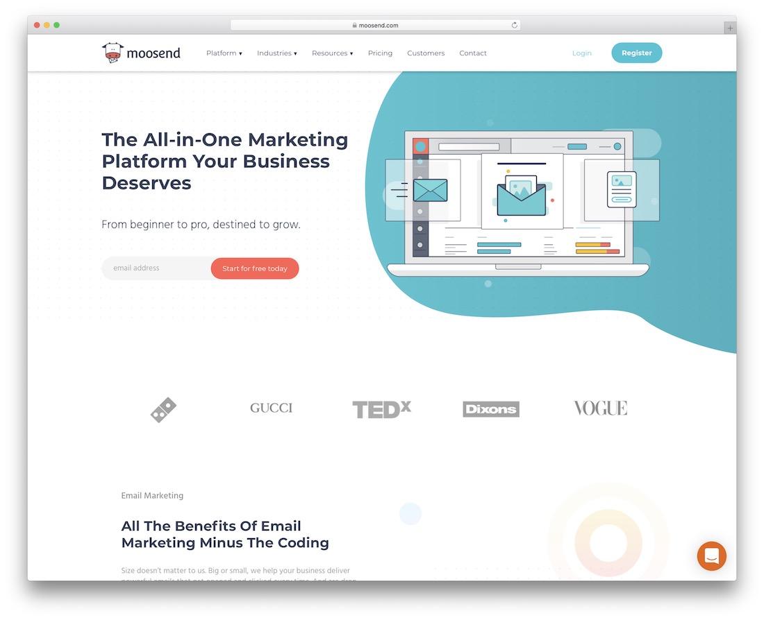 moosend email platform for developers