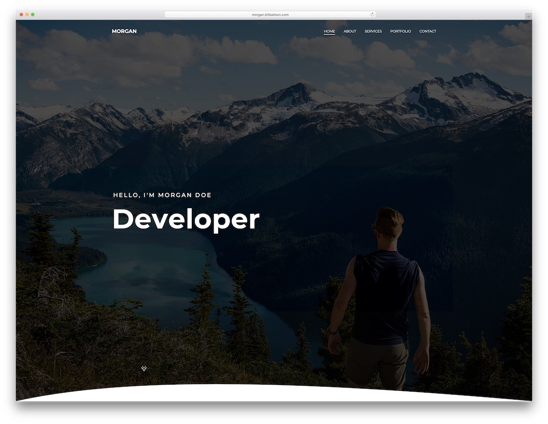 morgan bootstrap website template