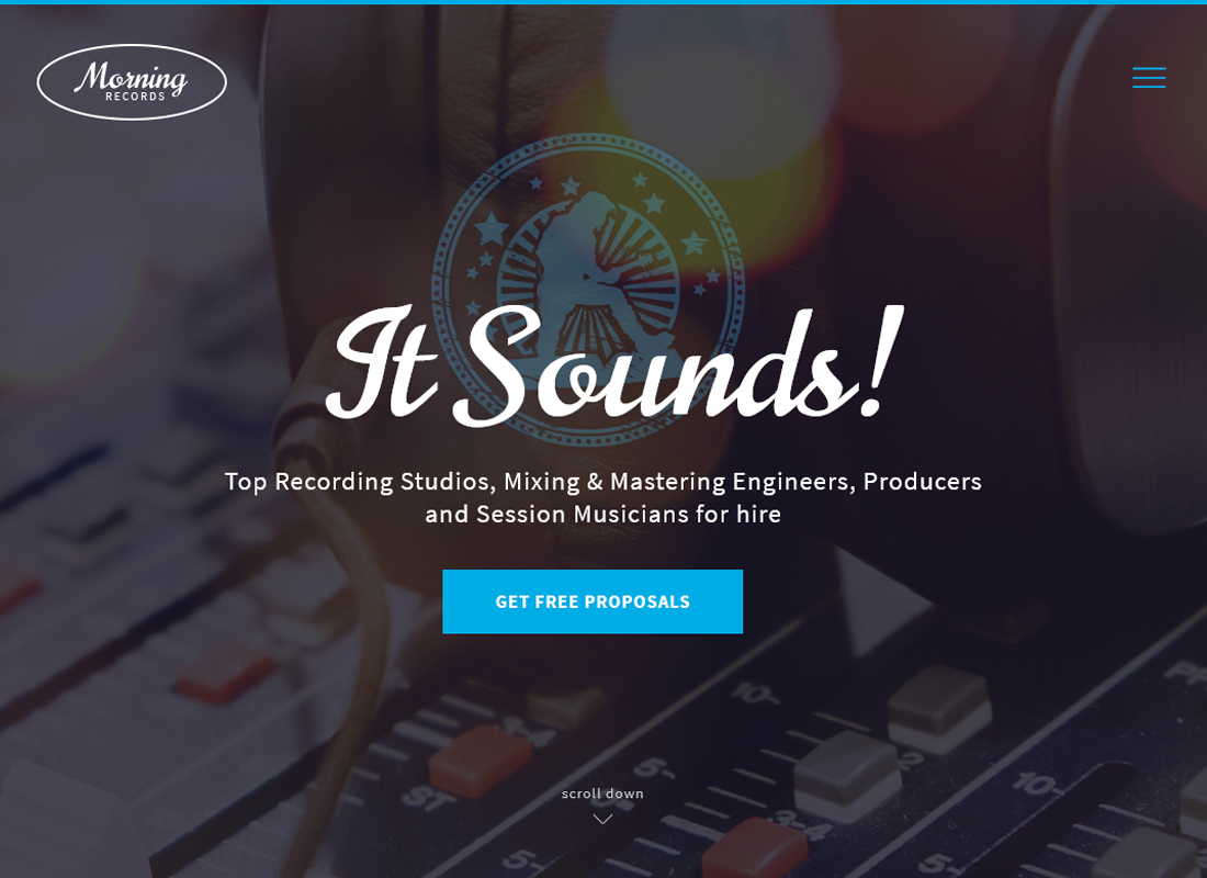 morning-records-sound-recording-studio-wp-theme