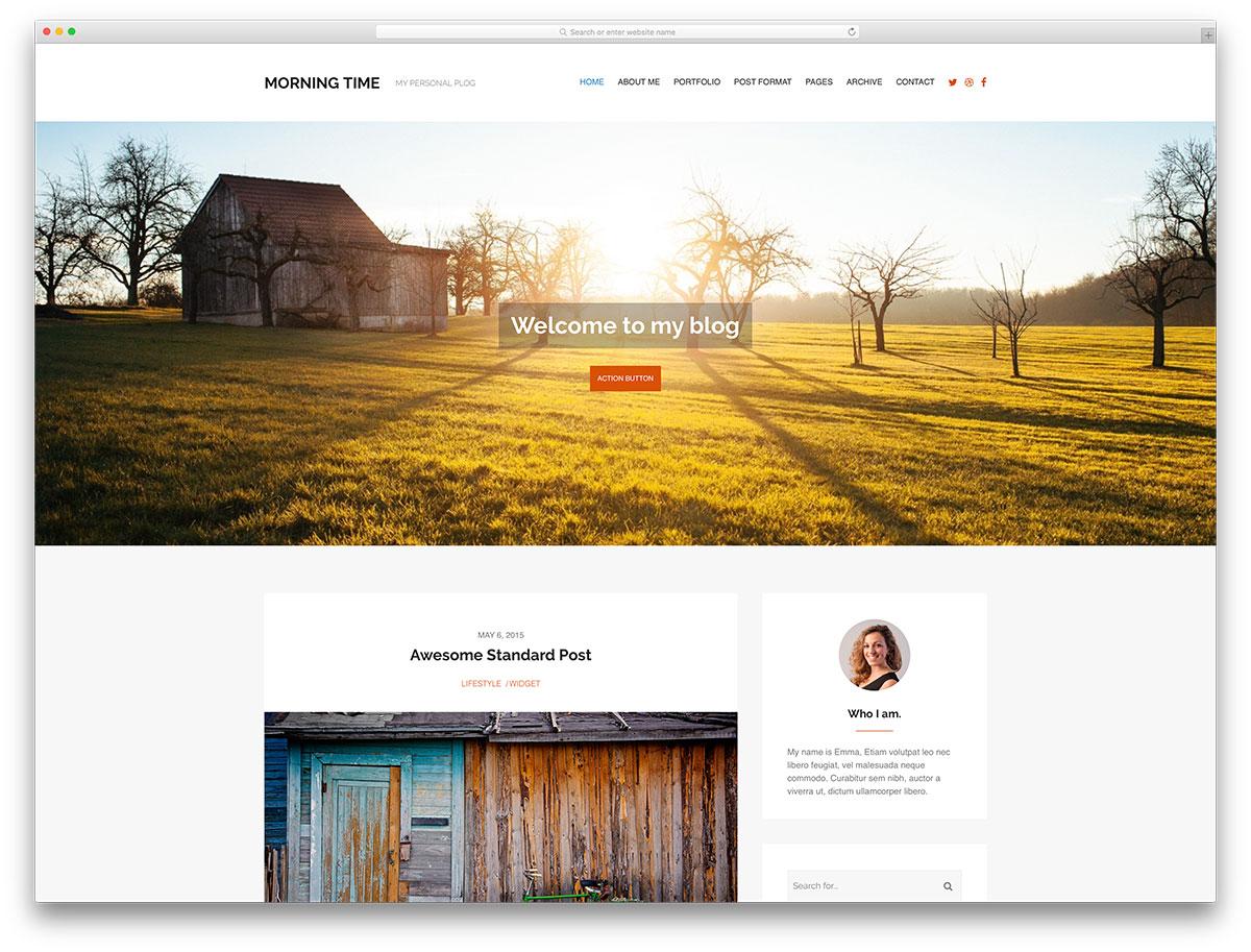 morningtime-minimal-wordpress-blog-theme