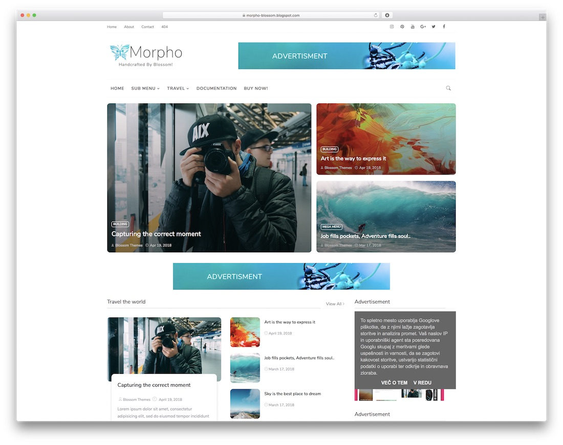45 best free responsive blogger templates 2018 colorlib morpho free blogger template maxwellsz