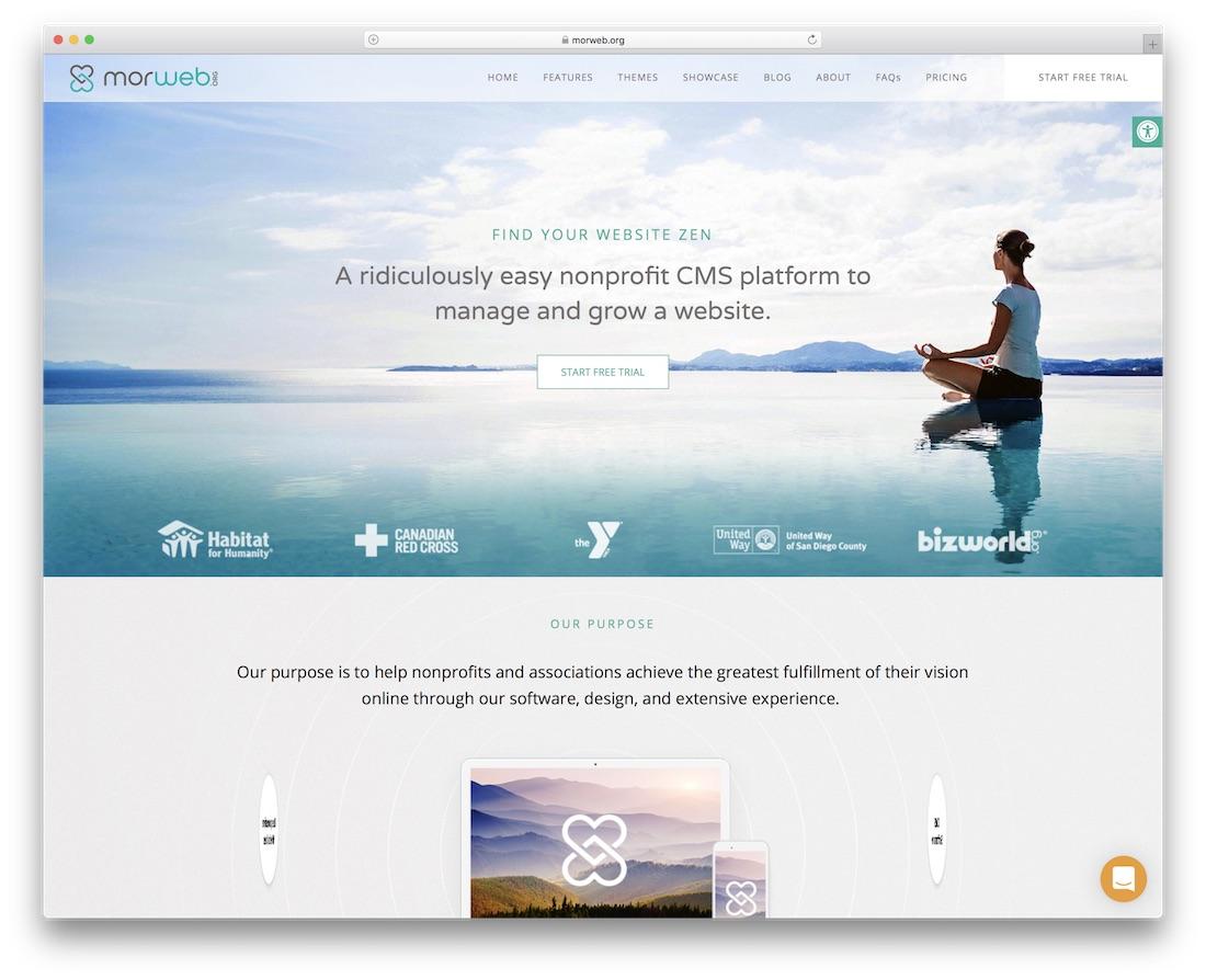 morweb website builder for non-profit organizations