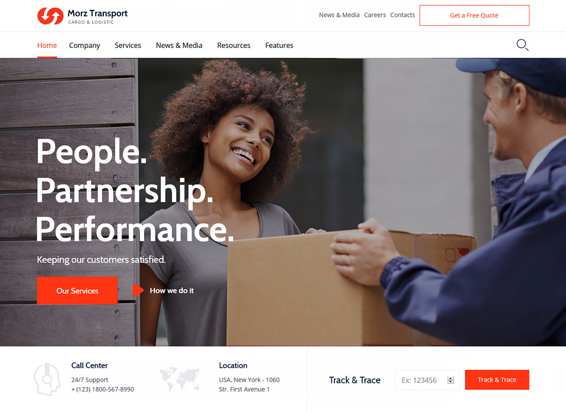 Morz - Transport Cargo Logistic WordPress