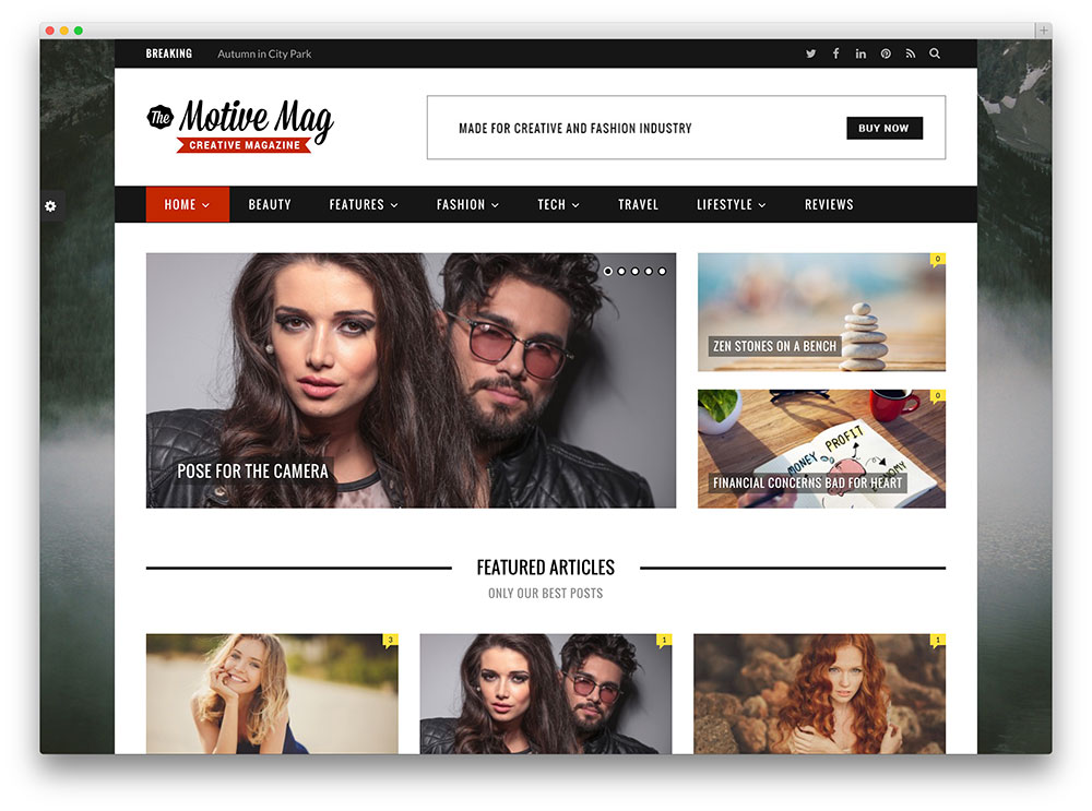 motive seo friendly blog magazine theme
