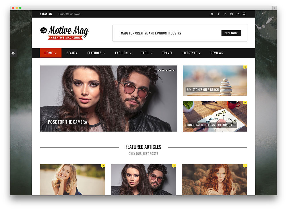20 Best Fashion Blog & Magazine WordPress Themes 2017 - colorlib