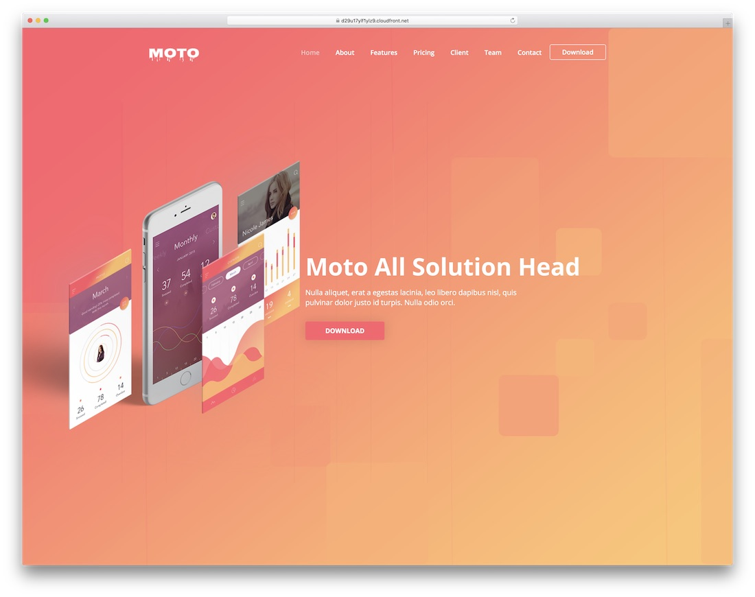 moto simple bootstrap template