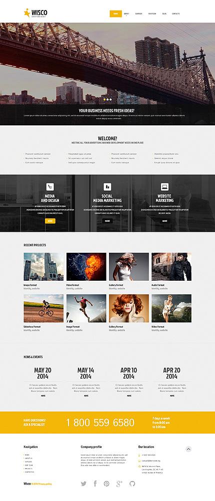 Advertising Agency Responsive WordPress Theme