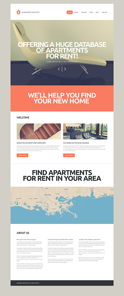 Rental Services WordPress Theme