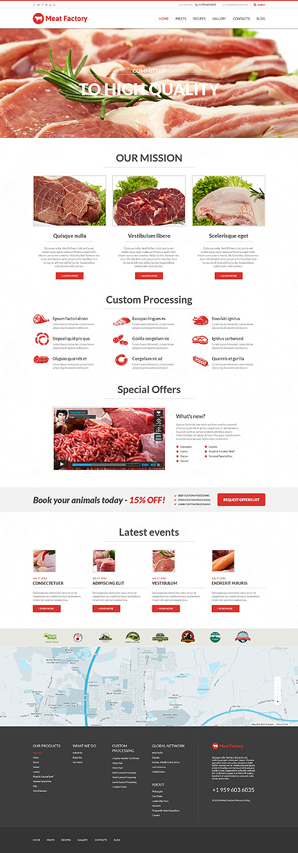 Health Benefits of Meat WordPress Theme
