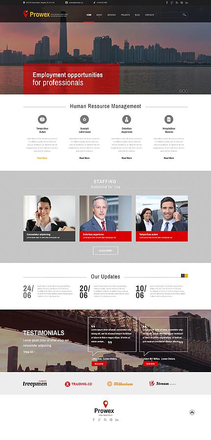 Professional Employment WordPress Theme