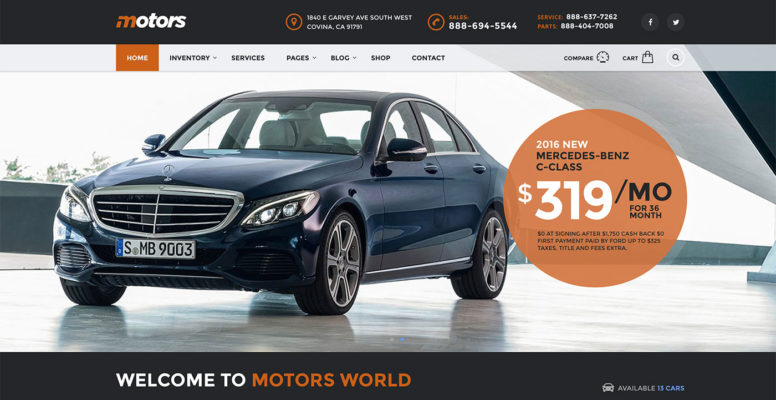 Motors – Car Dealership WordPress Theme Review