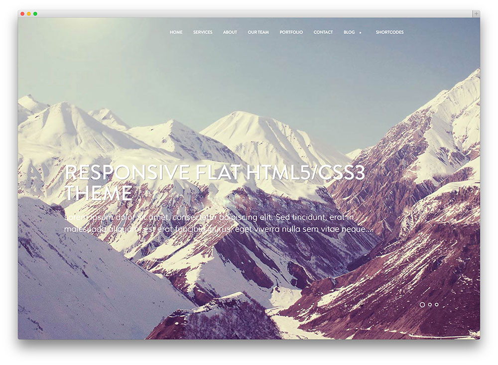 mountain - creative portfolio theme