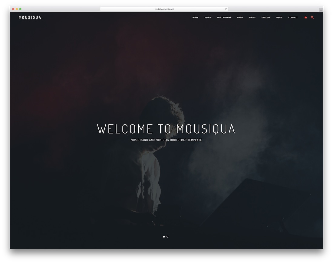 mousiqua bootstrap music template