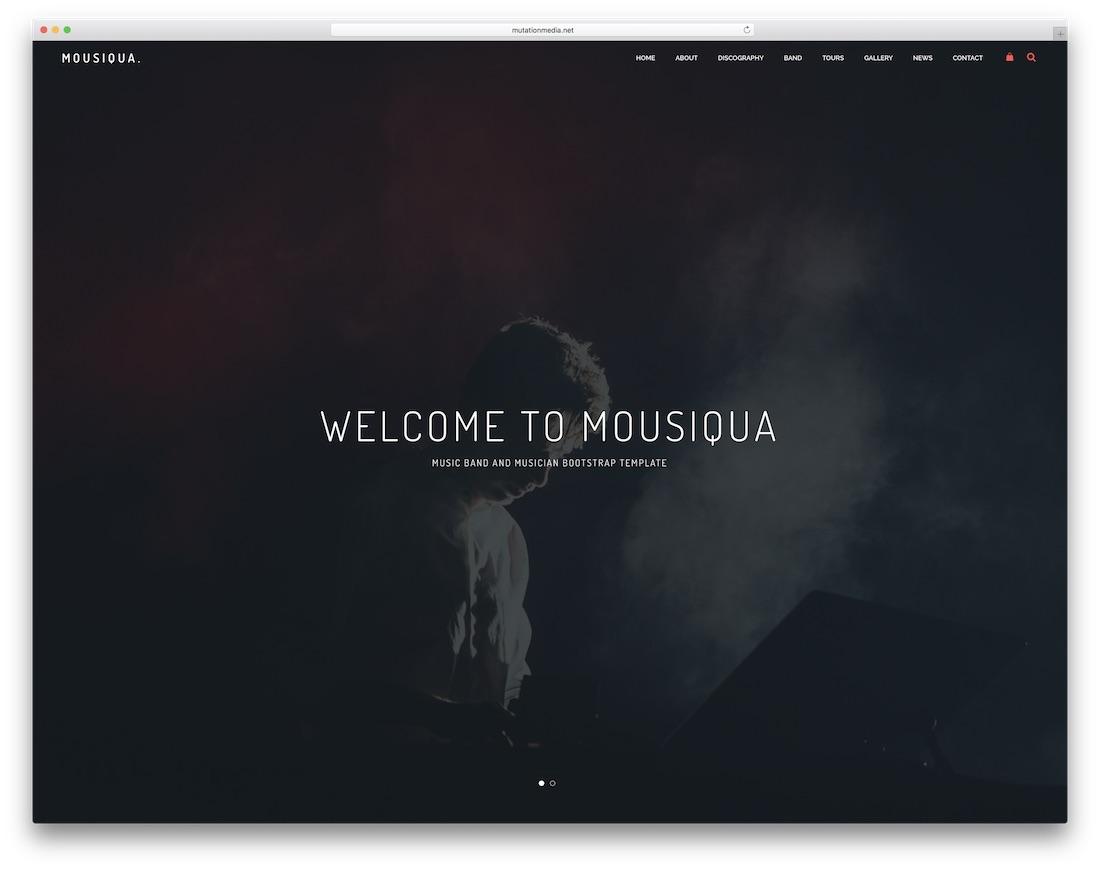 mousiqua bootstrap music template
