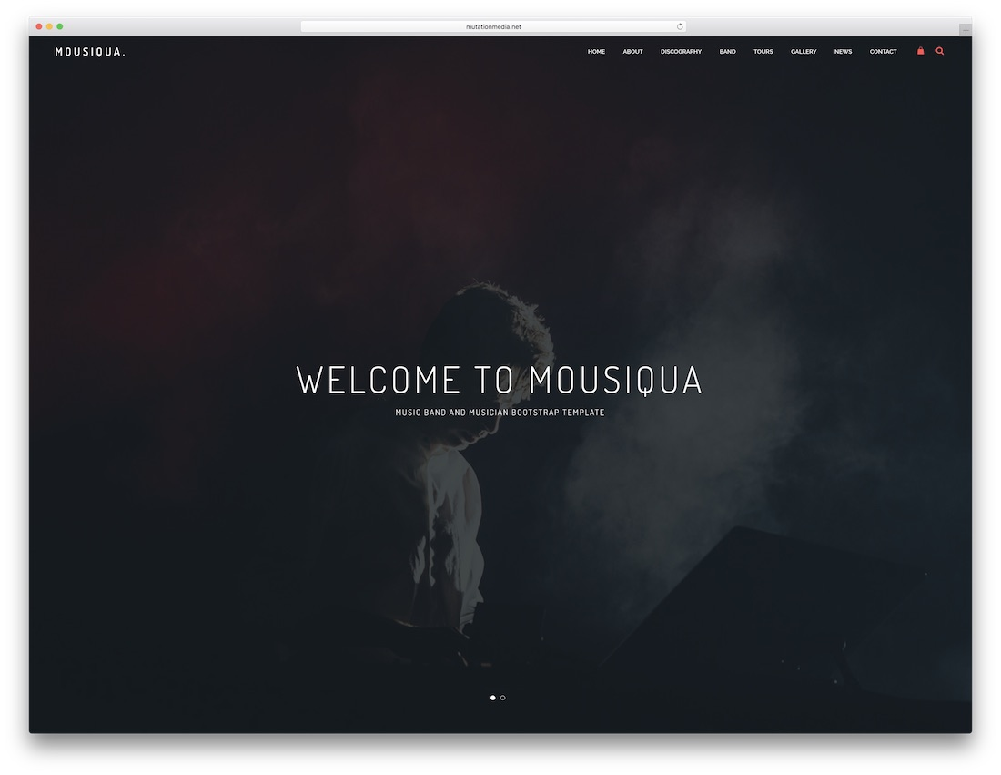 mousiqua music website template