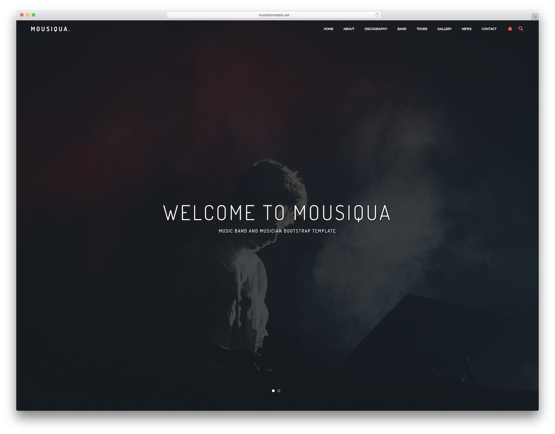 mousiqua musician website template