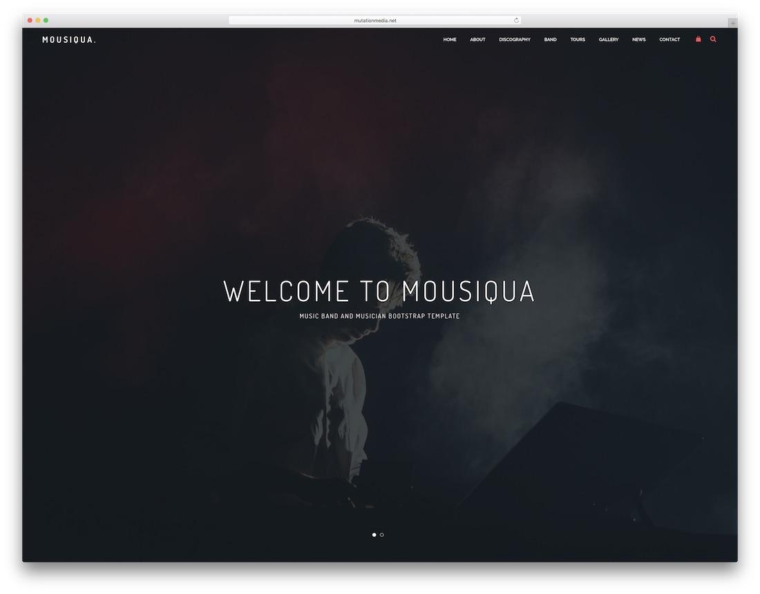 mousiqua musician website template