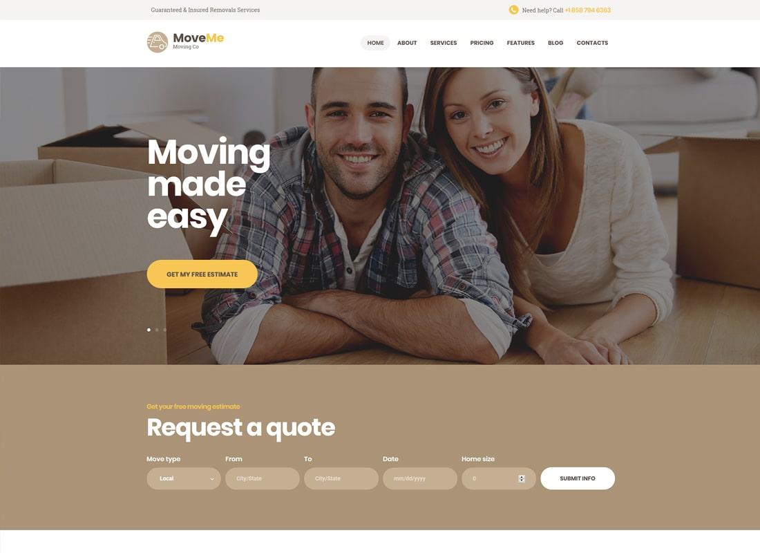 MoveMe | Moving & Storage Company WordPress Theme