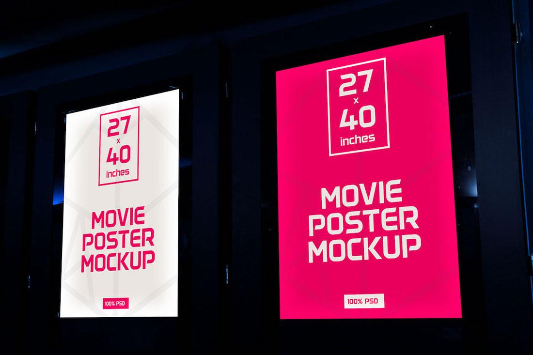 movie posters mockup freebie psd