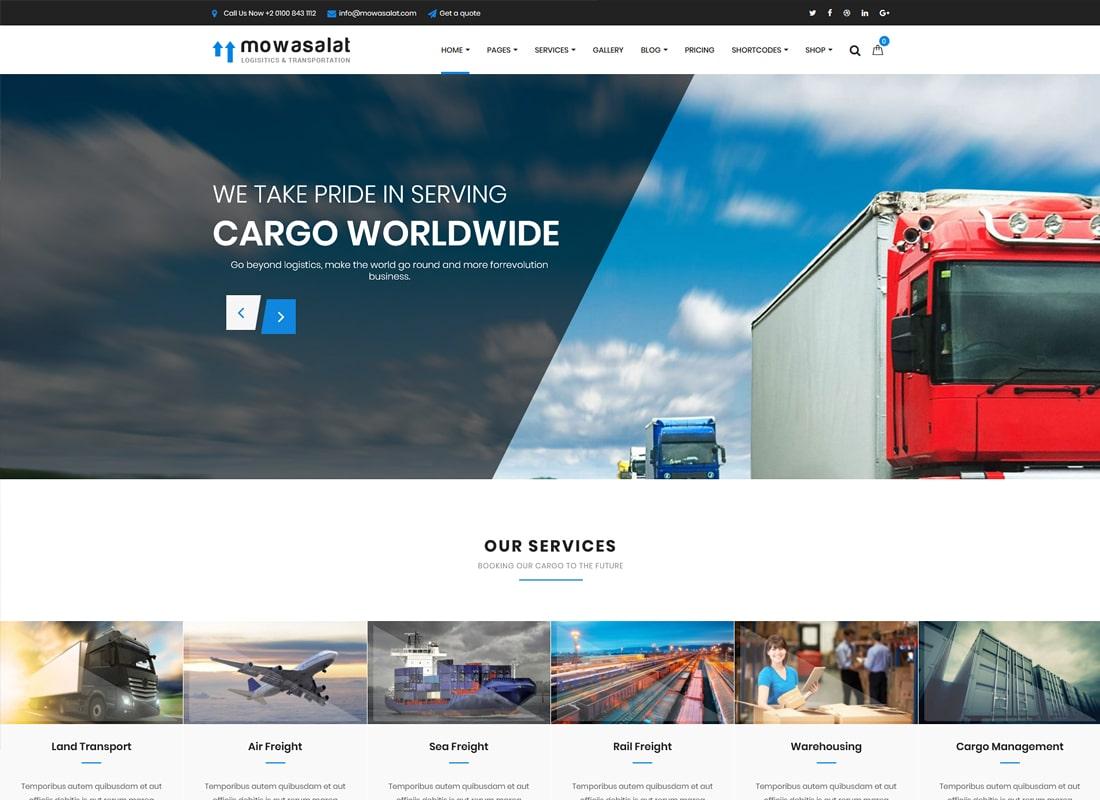 Mowasalat | Logistic and Transports WordPress Theme
